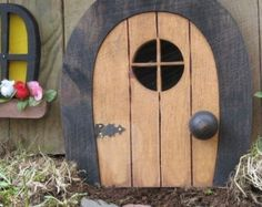 Gnome-Türen Fairy Türen Faerie Türen Elf Türen 9 von NothinButWood