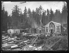Dossetter, Edward (photographer) Edward Curtis, La Rive, Vancouver Island, Natural History, British Columbia, Museum, Canada, Digital, House Styles