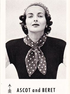 Cute polka dot knitted ascot - good for when it is a bit cold but you would look silly wearing a winter scarf