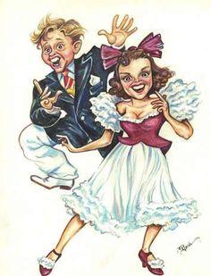 Mickey Rooney & Judy Garland 'La Conga!'---jaygoede.com
