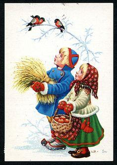 Julkort av Lars Carlsson. Stämplat år 1972.