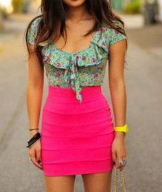 I love the colors to this outfit <3