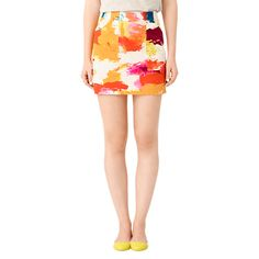 Utility Pocket Skirt in Abstract - Kate Spade Saturday