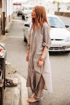 Maja Why wearing Ganni Kamante Strip dress & trousers from the 2015 High Summer /Pre Fall collection Style Désinvolte Chic, My Style, Looks Style, Casual Looks, Love Fashion, Fashion Outfits, Fashion Tips, Korean Fashion, Girl Fashion