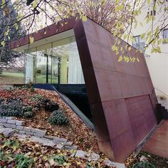 corten. I repinned this from http://www.archdaily.com/16312/folded-corten-house-x-architekten/1682279848_xarch-folded-corten-home-06/