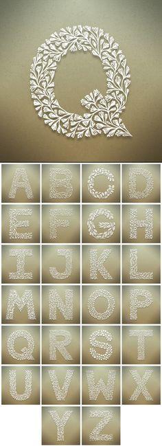 →Seth Mach→Botanical Alphabet Graphic Design, Pattern Design, Typography
