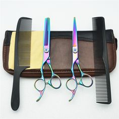 Left Hand 4Pcs Suit 6'' Customized Logo Colorful JP 440C Human Hair Hairdressing Scissors Cutting Shears + Thinning + Comb C8002 //Price: $US $25.89 & FREE Shipping //   http://humanhairemporium.com/products/left-hand-4pcs-suit-6-customized-logo-colorful-jp-440c-human-hair-hairdressing-scissors-cutting-shears-thinning-comb-c8002/  #indian_hair