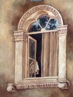 Through the window. Through The Window, Pastel, Paintings, Watercolor, Art, Pen And Wash, Art Background, Cake, Watercolor Painting