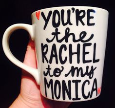 FRIENDS mug Rachel and Monica best friends ross by PickMeCups