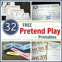 32 FREE Pretend Play Printables & a HUGE Cash Giveaway - My Joy-Filled Life