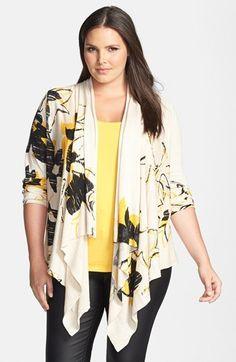NIC+ZOE 'Flower Burst' Cardigan (Plus Size). $208.00. #fashion #women #plus size fashion for women