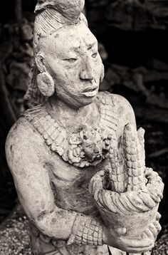 Image Galleries - Travel Photography from Greece, Italy, Etc. - Ancient Mayan Corn God - Riviera Maya, Mexico
