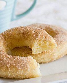 Low FODMAP Recipe and Gluten Free Recipe - Baked Cinnamon Doughnuts http://www.ibssano.com/low_fodmap_recipe_doughnut.html