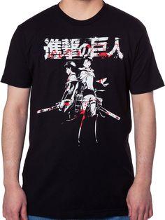 Levi & Eren Attack on Titan Shirt: Attack On Titan Mens T-shirt