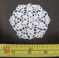Dollhouse Miniature Small Crochet Doily Table Cover IGMA Artisan | eBay