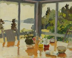 Fairfield Porter (American, 1907-1975), The Table on the Porch, 1971.