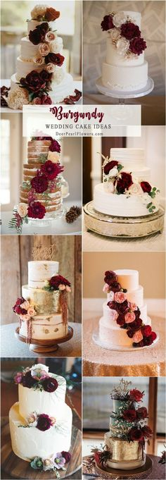 Top 20 Burgundy Wedding Cakes You'll Love #weddingcakes #BurgundyWeddingIdeas