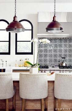 Kitchen Bar Stools and Pendant Lights