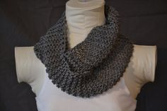 Grey Knitted Infinity Scarf by KnotsandBows Boutique on Etsy, $15.00