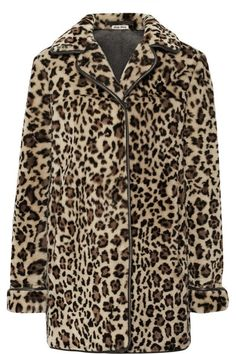 Miu Miu leopard coat