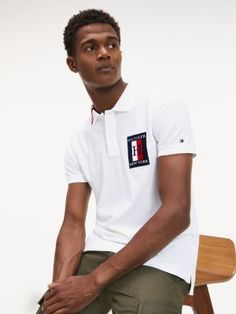 Polo con cuello color block y corte slim Tommy Hilfiger Outfit, Tommy Hilfiger Shirts, Camisa Polo, Direct Marketing, Polo T Shirts, Nike Outfits, Polo Ralph Lauren, Slim, Fitness