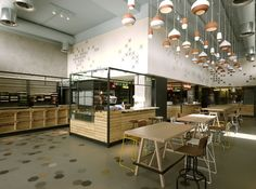 Cooking up the interior design was tasked to K-Studio, who eschewed a traditional Levantine look in favour of a clean, modern and gimmick-free environment.  Souk, Athens