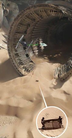 "Spaceballs cameo in Star Wars The Force Awakens. ""Comb the desert!"""