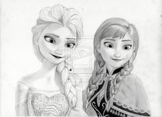 Elsa From Frozen | Elsa and Anna from Disney's Frozen by julesrizz