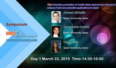 International Conference on #SportsMedicine and #Fitness March 23-25, 2015 Chicago, USA