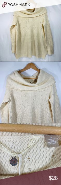 ac6494417ea Anthro Knotted   Knitted sweater Beautiful Knotted   Knitted sweater. Cream  color. Free of