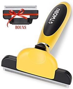 TWOBIU Pet Deshedding Brush for Dogs Cats Dog Shedding Brush Cat Deshedding Tool with Fur Ejector Cat Dog Brushes for Shedding Short Hair To Medium Length Hair >>> Check this awesome product by going to the link at the image. (This is an affiliate link)