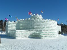 New York. Saranac Lake, NY, Winter Carnival Ice Palace, feb 2004