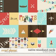 Native Woodland Cards by Dream Big Designs