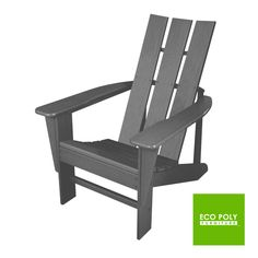 VueModern™ Adirondack Chair made from durable recycled plastic and available in 19 colors. Our VueModern™ Adirondack Chair offers the ideal design for modern outdoor living. It features a contoured seat with wide slats. The back design is simple yet comfortable, incorporating straight vertical back slats with a gentle horizontal curve that hugs your back. Our VueModern™ Adirondack Chair is built from durable recycled plastic and assembled with stainless steel hardware. Made in USA.