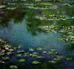 Nénuphars, huile de Claude Monet (1840-1926, France)