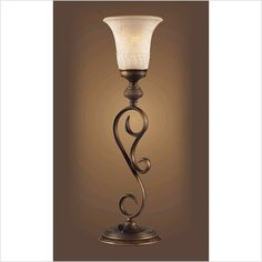 Lowes Lite Source 29-1/4-in Bronze Indoor Table Lamp with Tiffany ...