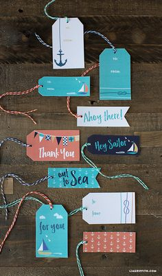 Browse our variety of stylish nautical gift tags for summer presents and Father's Day gifts. These are great for sailors, beach lovers, and lake dwellers! Diy Father's Day Crafts, Father's Day Diy, Paper Crafts, Homemade Fathers Day Gifts, Fathers Day Crafts, Christmas Gift Wrapping, Christmas Tag, Diy Father's Day Cards From Daughter, Nautical Gifts
