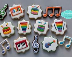 Baby Beat, Baby Rocker, Music Party, 2nd Birthday Parties, Lucca, Cookie Decorating, First Birthdays, Fondant, 1