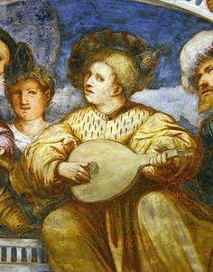 Beze, detail of the concert, 1532 (fresco) Girolamo Romanino