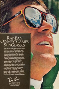 Fashion definitely repeats itself. @Ray-Ban sunglasses were as cool then as they are now. Check out these special edition shades from Spring 1976. #vintage #ski #winter #snow SkiMag.com