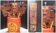 Halloween Magnetic Pencil Toppers that double as bookmarks <3
