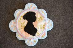 Jane Austen Silhouette Badge @ Little Miss Marmalade's blog. A cute and crafty idea.