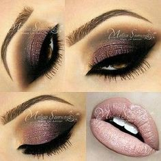 Pale lips and dark eyes (mauve/taupe/brown) Makeup