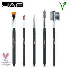 JAF 100% Vegan 5-Piece Professional Eye Makeup Brush Set