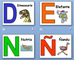 Spanish Alphabet With Animals Powerpoint And Signs Alfabeto Alphabet Activities Preschool Spanish Alphabet Kindergarten Language Arts