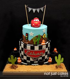 Cars Themed Cake for Ethan — Birthday Cake Photos