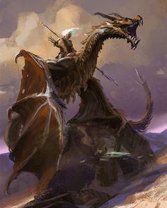 Weird Creatures, Fantasy Creatures, Mythical Creatures, Dragon Knight, Dragon Rider, Fantasy Dragon, Fantasy Warrior, Fantasy Character Design, Character Art