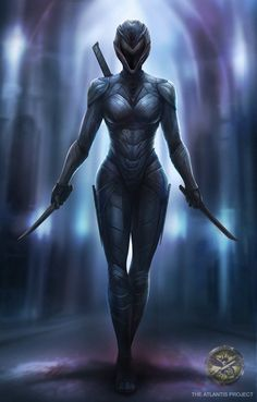 The Atlantis Project by Jake. Special operator from the Atlantean Imperial Intel. - Elaine F. Female Jedi, Fantasy Female Warrior, Female Armor, Angel Warrior, Fantasy Armor, Fantasy Queen, Sith Armor, Knight Armor, Jedi Sith
