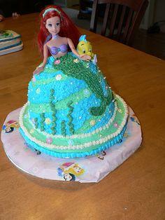Ariel Birthday cake