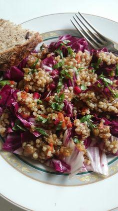 Radicchio-Lentils-Salad Lentil Salad, Lentils, Grains, Rice, Food, Lenses, Essen, Meals, Seeds